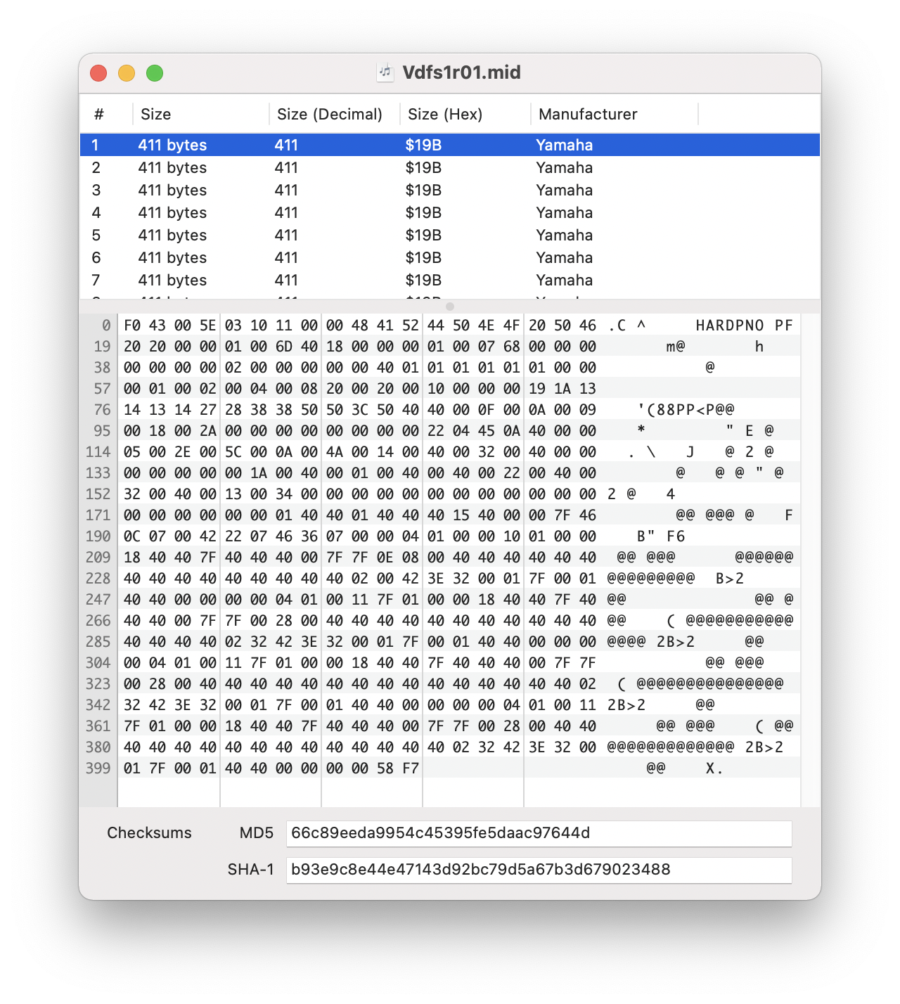 SysEx Librarian Documentation